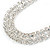 Statement Clear Crystal Choker Necklace In Silver Tone Metal - 30cm L/ 10cm Ext - view 7