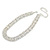 Statement Clear Crystal Choker Necklace In Silver Tone Metal - 30cm L/ 10cm Ext - view 6