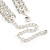 Statement Clear Crystal Choker Necklace In Silver Tone Metal - 30cm L/ 10cm Ext - view 5