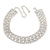 Statement Clear Crystal Choker Necklace In Silver Tone Metal - 28cm L/ 12cm Ext