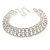 Statement Clear Crystal Choker Necklace In Silver Tone Metal - 28cm L/ 12cm Ext - view 9