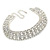 Statement Clear Crystal Choker Necklace In Silver Tone Metal - 28cm L/ 12cm Ext - view 10