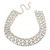 Statement Clear Crystal Choker Necklace In Silver Tone Metal - 28cm L/ 12cm Ext - view 11