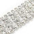 Statement Clear Crystal Choker Necklace In Silver Tone Metal - 28cm L/ 12cm Ext - view 3