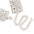 Statement Clear Crystal Choker Necklace In Silver Tone Metal - 28cm L/ 12cm Ext - view 7