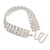 Statement Clear Crystal Choker Necklace In Silver Tone Metal - 28cm L/ 12cm Ext - view 4