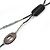 2 Strand Long Shell and Glass Bead Necklace In Black/ Slate Grey - 100cm L - view 3