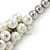 White/ Hematite Glass Pearl Bead Cluster Necklace In Silver Tone - 53cm L/ 7cm Ext - view 3