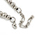 White/ Hematite Glass Pearl Bead Cluster Necklace In Silver Tone - 53cm L/ 7cm Ext - view 4