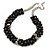 Black/ Grey Glass Pearl Bead Cluster Necklace In Silver Tone - 53cm L/ 7cm Ext - view 6
