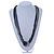 Long Multistrand Black, Grey, Hematite Glass/ Acrylic Bead Necklace - 90cm L - view 2