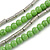 4 Strand Multilayered Pea Green Ceramic and Silver Tone Acrylic Bead Necklace - 110cm L - view 3
