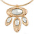 Tribal Gold Plated Bar Necklace with Oval Shape Medallion Pendant - 46cm L/ 8cm Ext - view 6