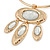 Tribal Gold Plated Bar Necklace with Oval Shape Medallion Pendant - 46cm L/ 8cm Ext - view 5