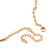 Tribal Gold Plated Bar Necklace with Oval Shape Medallion Pendant - 46cm L/ 8cm Ext - view 4
