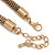 Vintage Inspired Mesh Chain With Champagne Crystal Sliding Bar Pendant Necklace In Gold Tone - 44cm L/ 4cm Ext - view 5
