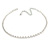 Single Row Clear Crystal Choker Necklace In Silver Tone Metal - 30cm L/ 11cm Ext - view 7