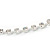 Single Row Clear Crystal Choker Necklace In Silver Tone Metal - 30cm L/ 11cm Ext - view 8
