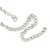 Single Row Clear Crystal Choker Necklace In Silver Tone Metal - 30cm L/ 11cm Ext - view 4