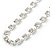 Single Row Clear Crystal Choker Necklace In Silver Tone Metal - 30cm L/ 11cm Ext - view 3