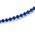Thin Sapphire Blue Top Grade Austrian Crystal Choker Necklace In Rhodium Plated Metal - 36cm L/ 9cm Ext - view 3