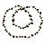 Black Ceramic Bead, Grey Glass Nugget Orange Cotton Cord Long Necklace - 90cm L - view 5