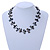 Slate Black Shell Nugget & Black Ceramic Bead Necklace In Silver Tone - 46cm L/ 3cm Ext - view 2