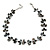Slate Black Shell Nugget & Black Ceramic Bead Necklace In Silver Tone - 46cm L/ 3cm Ext - view 6