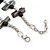 Slate Black Shell Nugget & Black Ceramic Bead Necklace In Silver Tone - 46cm L/ 3cm Ext - view 5