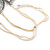 White/ Transparent/ Silver/ Taupe Glass Bead Multi Strand with Ivory Suede Cord Necklace - Adjustable - 64cm Min/ 88cm Max - view 5