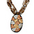 Large Oval Resin Pendant with Chunky Nugget Chain - 46cm L/ 6cm Ext/ 8cm Pendant - view 7
