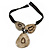 Statement Tribal Resin Bead with Black Leather Cord Necklace - 50cm L/ 9cm L Front Drop - view 7