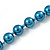 Long Teal Glass Bead Necklace - 140cm Length/ 8mm - view 3