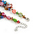 3 Strand Multicoloured Shell Nugget and Crystal Bead Necklace with Silver Tone Spring Ring Closure - 52cm L/ 5cm Ext - view 3