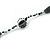 Long Single Strand Glass Bead Necklace (Balckt/ Transparent/ Hematite/ White) - 124cm L - view 4