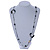 Long Single Strand Glass Bead Necklace (Balckt/ Transparent/ Hematite/ White) - 124cm L - view 2