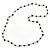 Long Single Strand Glass Bead Neckalce (Black, Light Grey, Bronze) - 106cm L - view 5