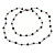 Long Single Strand Glass Bead Neckalce (Black, Light Grey, Bronze) - 106cm L - view 4