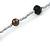 Long Single Strand Glass Bead Neckalce (Black, Light Grey, Bronze) - 106cm L - view 3