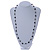 Long Single Strand Glass Bead Neckalce (Black, Light Grey, Bronze) - 106cm L - view 6