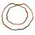 Extra Long Single Strand Acrylic, Wood Bead Neckalce (Bronze, Orange, Coral) - 120cm L - view 5