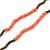 Extra Long Single Strand Acrylic, Wood Bead Neckalce (Bronze, Orange, Coral) - 120cm L - view 3