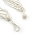 Snow White/ Antique White Glass Bead, Shell Nuggets Tassel Necklace with Button and Loop Closure - 48cm L (Necklace)/ 17cm L (Tassel) - view 6