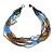 Bronze/ Plum/ Light Blue/ Peacock Small Glass Bead Multistrand Necklace - 48cm L - view 6