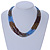 Bronze/ Plum/ Light Blue/ Peacock Small Glass Bead Multistrand Necklace - 48cm L - view 2