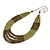Olive, Bronze Acrylic Bead Multistrand Necklace - 56cm L - view 5