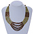 Olive, Bronze Acrylic Bead Multistrand Necklace - 56cm L - view 2