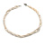3 Strand Intertwine Off White Coral, Freshwater Pearl Necklace With Silver Tone Spring Ring Closure - 47cm L - view 3
