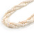 3 Strand Intertwine Off White Coral, Freshwater Pearl Necklace With Silver Tone Spring Ring Closure - 47cm L - view 4