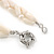 3 Strand Intertwine Off White Coral, Freshwater Pearl Necklace With Silver Tone Spring Ring Closure - 47cm L - view 6